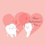 Зубы шаржа с днем валентинки Стоковая Фотография RF