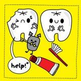 зубы doodle стоковое изображение
