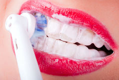 зубы v4 щетки ваши Стоковое фото RF