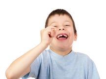 Зуб выставки мальчика потерянный Стоковое Фото