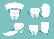 Зуб и текстовое поле зубоврачебной концепции вектора Стоковые Фотографии RF