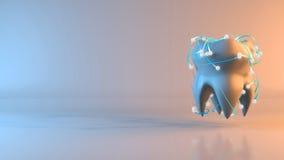 Зуб - иллюстрация 3D Стоковая Фотография