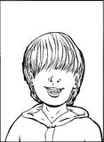 зуб мальчика пропавший Стоковое Фото