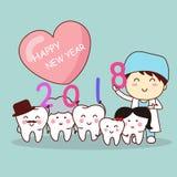 Зуб с Новым Годом стоковая фотография