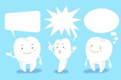 зуб шаржа с пузырем речи Стоковые Изображения RF