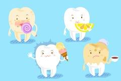 Зуб шаржа с различными проблемами Стоковое Изображение