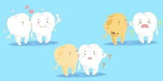 Зуб шаржа с dacay проблемой Стоковое Изображение RF