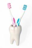 зуб brushe Стоковое фото RF