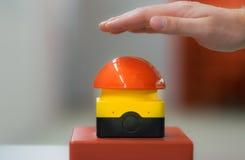Зуммер отжимать руки красный Стоковая Фотография RF