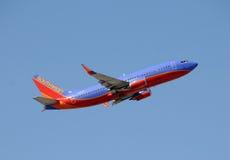 зюйдвест двигателя Боинга 737 авиакомпаний Стоковое фото RF