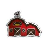 Здание амбара фермы иллюстрация штока