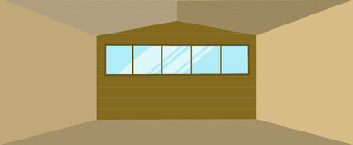 Здание ангара склада Стоковая Фотография RF