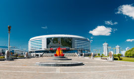 Здание арены Минска спорт сложной внутри Стоковые Изображения RF