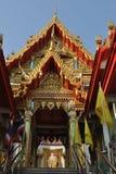 Здание архитектуры шрифта буддийское в nonthaburi Таиланде wat виска buakwan Стоковая Фотография RF