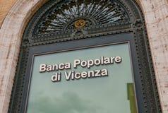 Здание банка в Риме - Banca Popolare di Vincenza Стоковая Фотография