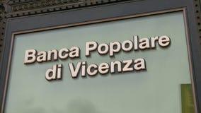 Здание банка в Риме - Banca Popolare di Vincenza Стоковые Фото