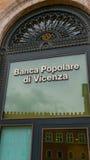 Здание банка в Риме - Banca Popolare di Vincenza Стоковые Изображения