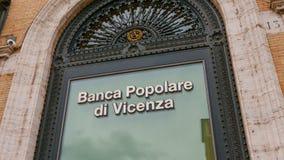 Здание банка в Риме - Banca Popolare di Vincenza Стоковое Фото