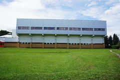 Здание бассейна славное зодчество самомоднейшее Стоковые Фото