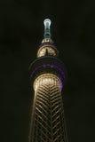 Здание башни skytree токио Японии на ноче Стоковое Изображение