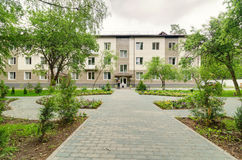 Здание больницы Star City стоковое фото rf
