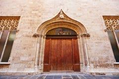 Здание Валенсии Ла Lonja de Seda историческое Стоковое Изображение