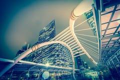 Здание вечера светлое Стоковая Фотография RF