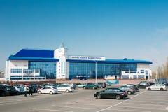 Здание дворца водных видов спорта в Gomel, Беларуси Стоковые Изображения