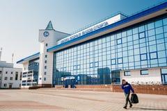 Здание дворца водных видов спорта в Gomel, Беларуси Стоковая Фотография