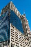 Здание высоты под конструкцией в Бангкоке, Таиланде Стоковая Фотография RF