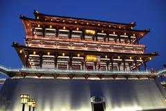 Здание в вечере, xian Ziyunlou Стоковое Изображение RF