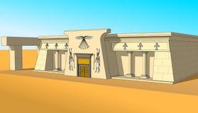 Здание в египетском стиле, взгляде правильной позиции Стоковое Изображение