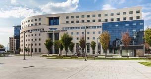 Здание в Памплоне, Испания здания суда (Palacio de Justicia) Стоковые Фото