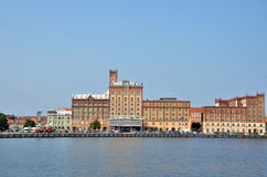 Здание в порте Kalmar Стоковые Изображения