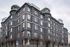 Здание в стиле Nouveau искусства, Рига стоковые изображения