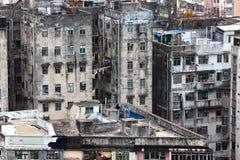 Здание Гонконга старое стоковое фото