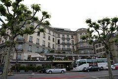 Здание гостиницы в Женеве Стоковое Фото
