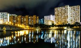 Здание государственного жилого фонда в Гонконге Стоковые Фото