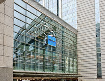 Здание Европейского парламента в Брюсселе Стоковые Фотографии RF