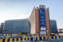 Здание европейской комиссии в Брюсселе Стоковая Фотография RF