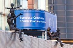Здание европейской комиссии в Брюсселе Стоковые Фотографии RF