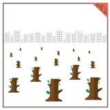 Здание лесопогрузчиков дерева естественное зеленое белое сохраняет вектор обслуживания Стоковые Изображения
