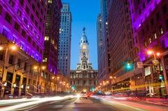 Здание здание муниципалитета ориентир ориентира Филадельфии историческое Стоковое Изображение