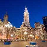 Здание здание муниципалитета ориентир ориентира Филадельфии историческое Стоковые Фотографии RF