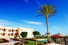 Здание и зона воссоздания роскошной гостиницы Стоковые Изображения