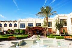 Здание и зона воссоздания роскошной гостиницы Стоковое фото RF