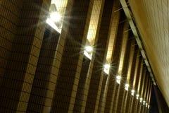 Здание и электрические лампы Стоковое Изображение RF