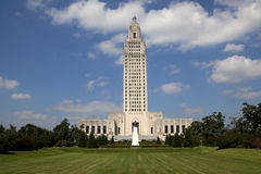 Здание капитолия положения Луизианы стоковая фотография rf