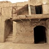 Здание кирпича и глины в цитадели Эрбили, Курдистане, Ираке Стоковые Фото