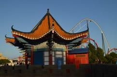 Здание Китая в порте Aventura Стоковое фото RF